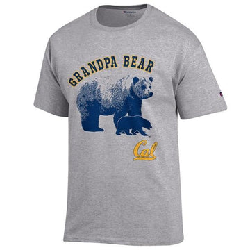 University Of California Berkeley Cal Grandpa Bear- Grey