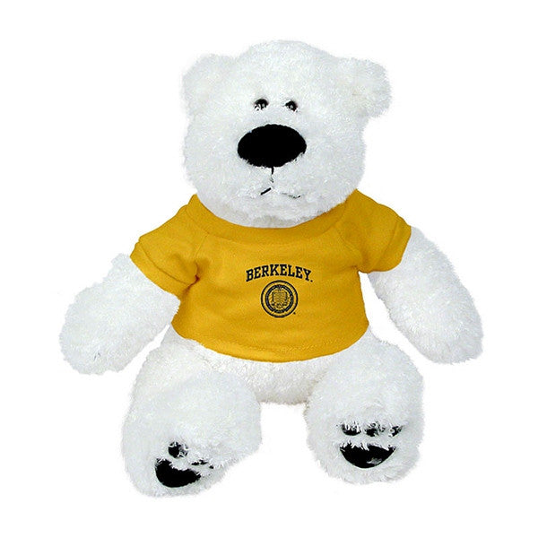 "University Of California Berkeley Cal Plush Bear- Teddy Bear- 12"" - WHITE-Shop College Wear"