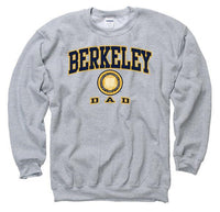 University Of California Berkeley Cal Dad Crewneck Sweatshirt-Grey-Shop College Wear