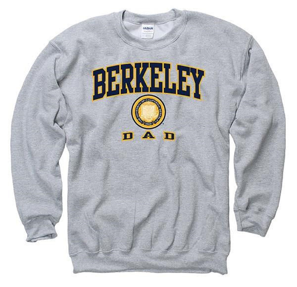 University Of California Berkeley Cal Dad Crew Neck Sweatshirt-Grey-Shop College Wear