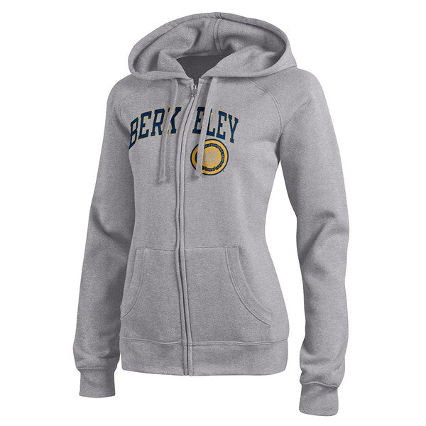 University Of California Berkeley Cal Champion Women's Zip-up Sweatshirt- Grey-Shop College Wear