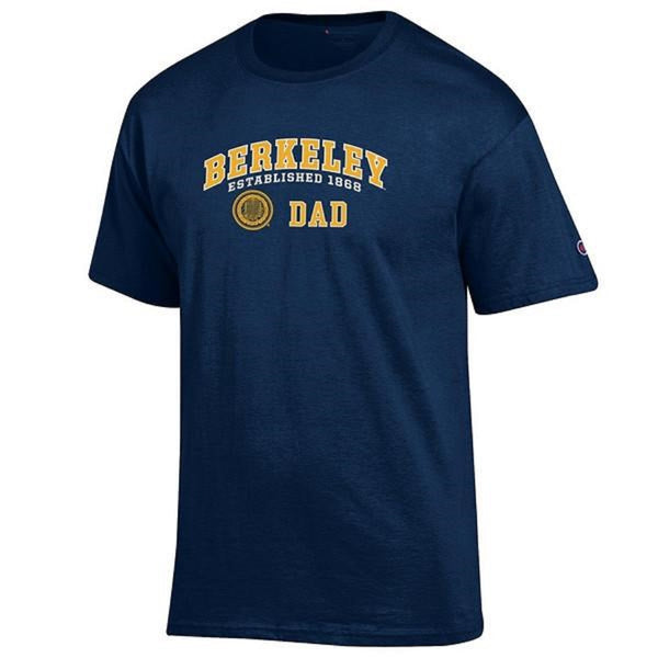 University Of California Berkeley Golden Bears Champion Cal Dad T-Shirt - Navy-Shop College Wear