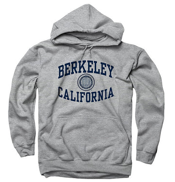 University Of California Berkeley Mens Sweatshirt Reverse Arch- Grey