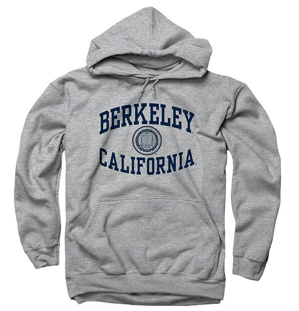 University Of California Berkeley Mens Sweatshirt Reverse Arch- Grey-Shop College Wear