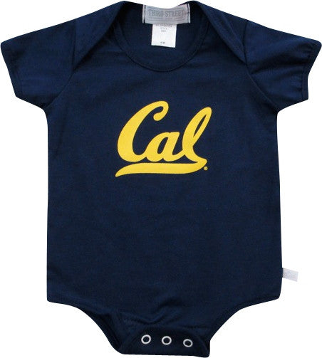 University Of California Berkeley Golden Bears Infant Diaper Shirt- Navy-Shop College Wear