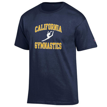 University Of California Berkeley Golden Bears Cal  Champion Men's Gymnastic T- Shirt- Navy
