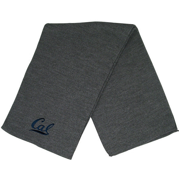 University Of California Berkeley Cal Bears Logofit Scarf- Charcoal-Shop College Wear