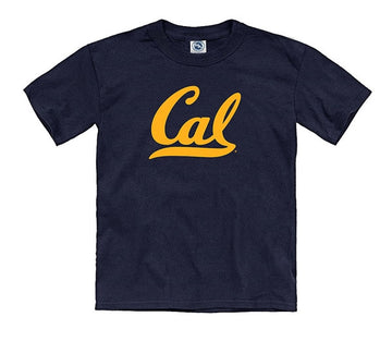 University Of California Berkeley Script Cal Youth T-Shirt - Navy