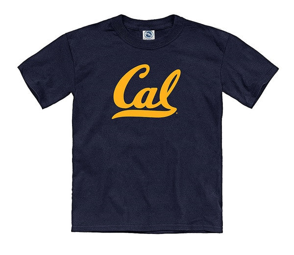University Of California Berkeley Script Cal Youth T-Shirt - Navy-Shop College Wear