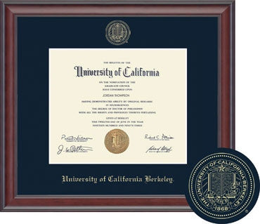 University Of California Berkeley Studio Diploma Frame - Navy-Shop College Wear