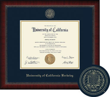 University Of California Berkeley Cal Diploma Frame Sutton- Navy-Shop College Wear