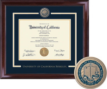 University Of California Berkeley Cal Showcase Masterpiece Brass Encore Diploma Frame - NAVY-Shop College Wear