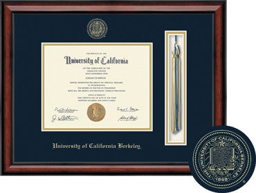University Of California Berkeley Tassel & Seal Southport Diploma Frame-Navy-Shop College Wear