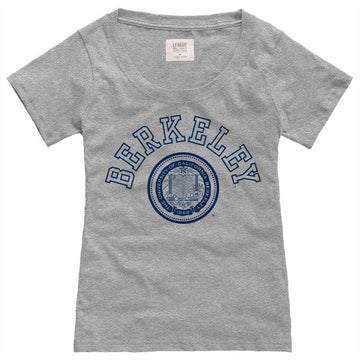 UC Berkeley League Katie Women's T- Shirt- Grey