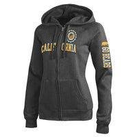 University Of California Berkeley Champion Women's Zip-Up Sweatshirt- Charcoal-Shop College Wear