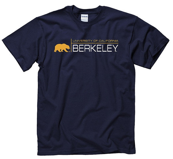 UC Berkeley Cross Mens T-Shirt - Navy-Shop College Wear