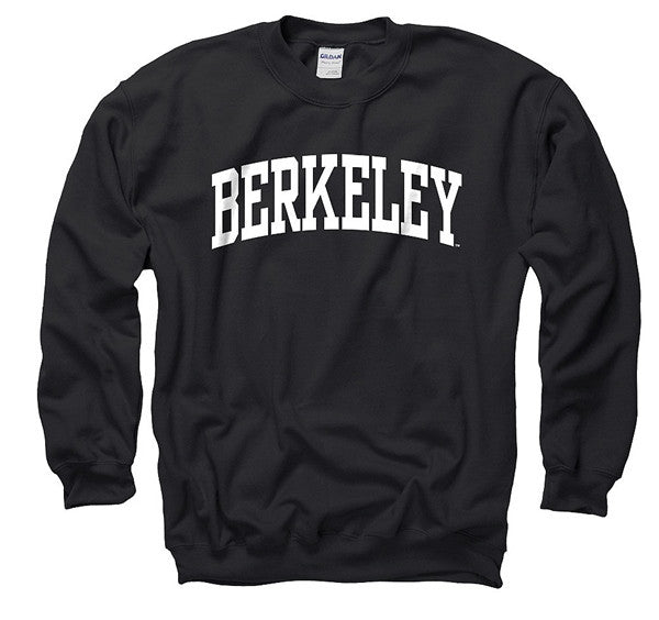 University Of California Berkeley Arch Mens Crew Sweatshirt- Black-Shop College Wear