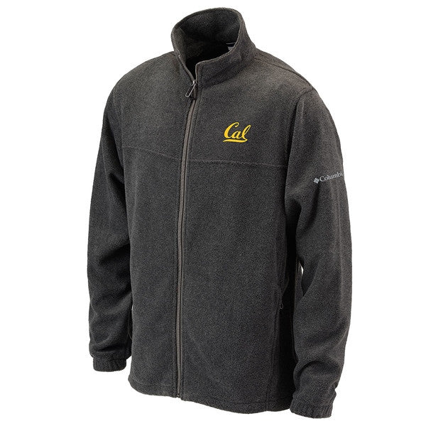 University Of California Berkeley Cal Columbia Flanker Full Zip Fleece Mens Jacket- Charcoal-Shop College Wear