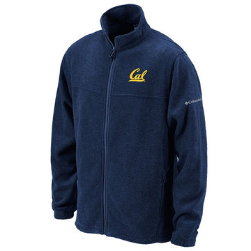 University Of California Berkeley Cal Columbia Flanker Full Zip Mens Fleece Jacket - Navy
