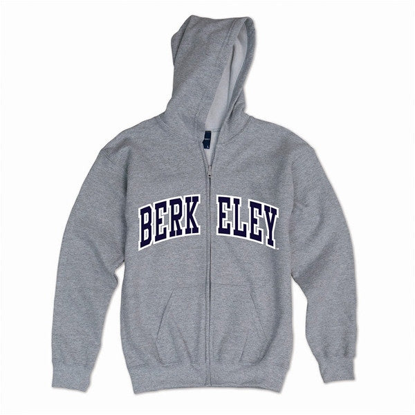 University Of California Berkeley Hoodie Mens Sweatshirt Berkeley Applique- Grey-Shop College Wear
