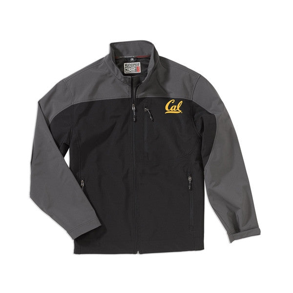 University Of California Berkeley Cal Soft Shell Weatherproof Mens Jacket- Black-Shop College Wear