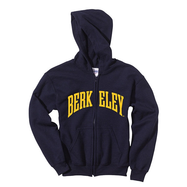 University Of California Berkeley Felt Applique Youth Hoodie- Navy-Shop College Wear