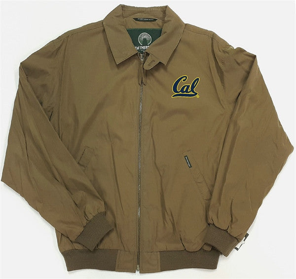 University Of California Berkeley Cal Embroidered Weatherproof Micro Fiber Jacket- Mocha-Shop College Wear