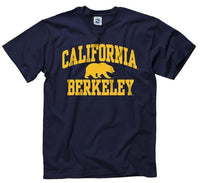 University Of California Berkeley Bold Arch Men's T-Shirt - Navy-Shop College Wear