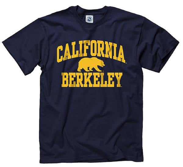 University Of California Berkeley Bold Arch Men's T- Shirt- Navy-Shop College Wear