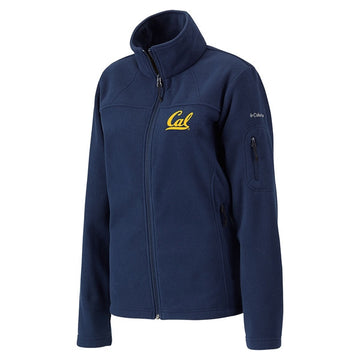 University Of California Berkeley Cal Embroidered Women's Columbia Polar Fleece Jacket- Navy