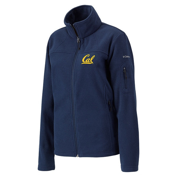 University Of California Berkeley Cal Embroidered Women's Columbia Polar Fleece Jacket- Navy-Shop College Wear