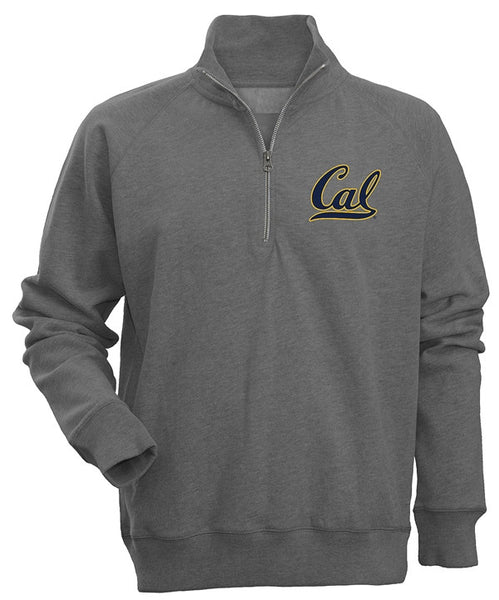 "University Of California Berkeley Cal 1/4"" Zip Sweatshirt- Charcoal-Shop College Wear"