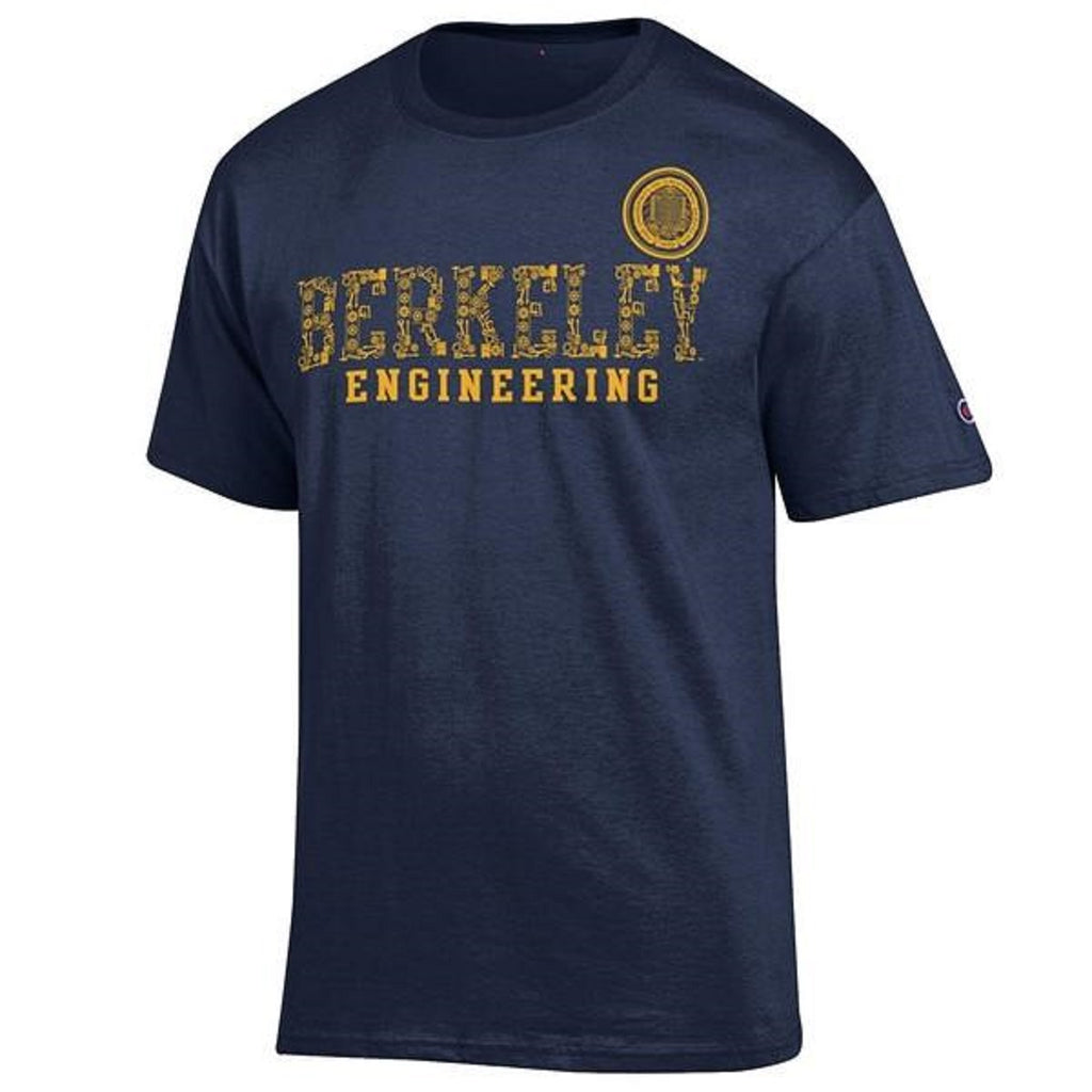 University Of California Berkeley Cal Champion Engineering Mens T-Shirt - Navy-Shop College Wear