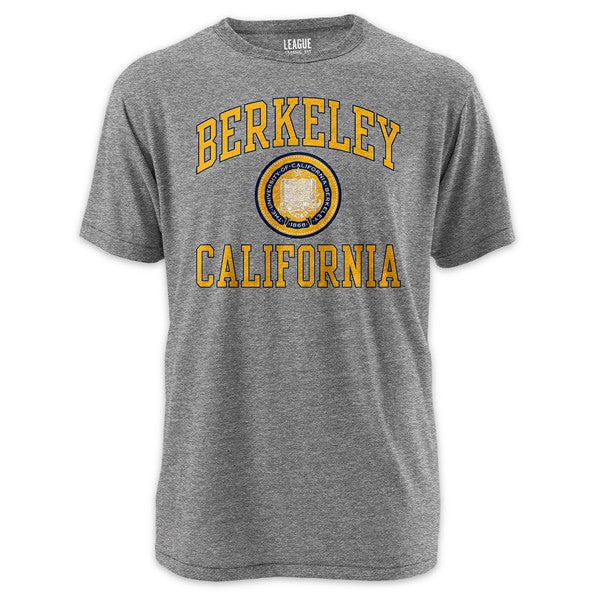 University Of California Berkeley Golden Bears League Tri Blend Mens T-Shirt- Grey-Shop College Wear
