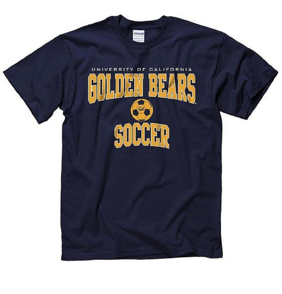 University Of California Berkeley Golden Bears Soccer T-Shirt- Navy-Shop College Wear