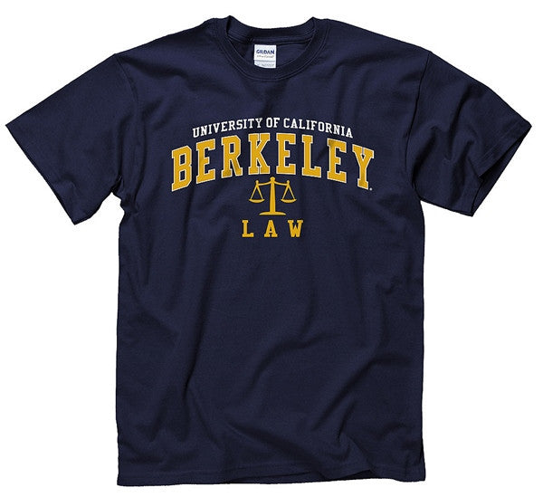 University Of California Berkeley Law School Mens T-Shirt - Navy-Shop College Wear