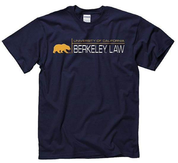 University Of California Berkeley Law School T-Shirt - Navy-Shop College Wear