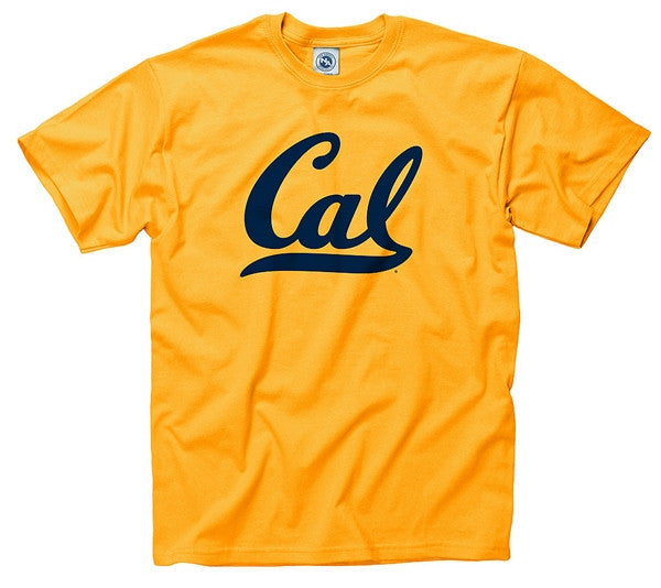 University Of California Berkeley Script Cal Mens T- Shirt- Gold-Shop College Wear