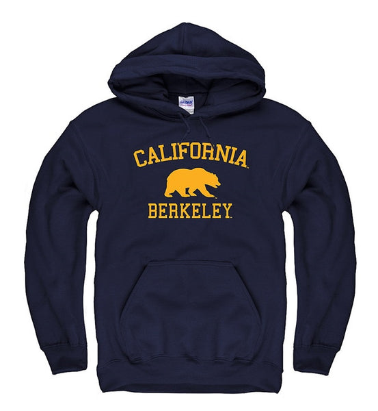 University Of California Berkeley Hooded Mens Sweatshirt- Navy-Shop College Wear