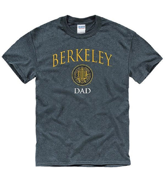 University Of California Berkeley Thin Font Dad T- Shirt- Charcoal-Shop College Wear