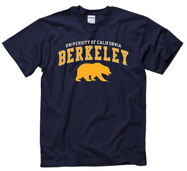 University Of California Berkeley Bear Mens T- Shirt- Navy-Shop College Wear