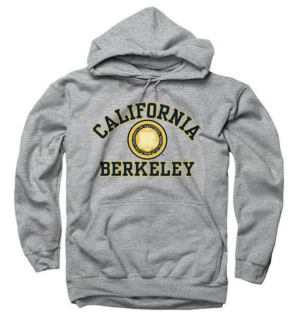 dae6bb91c49 University Of California Berkeley 3 Color Seal Mens Straight Hoodie-  Grey-Shop College Wear
