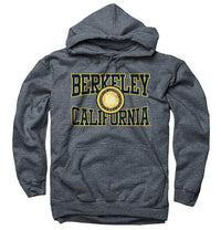 University Of California Berkeley Cal Cutout Seal Multi Color Crew Neck Men's Sweatshirt- Charcoal-Shop College Wear