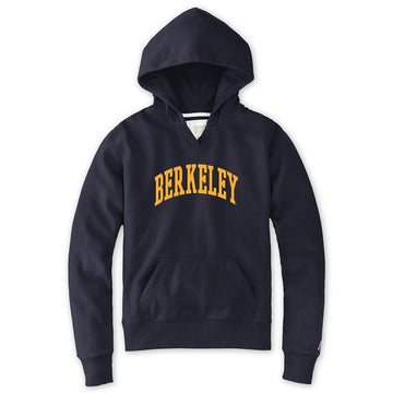 University Of California Berkeley League Women's Applique Hoodie Sweatshirt- Navy