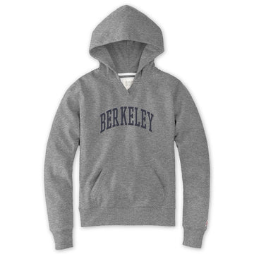 University Of California Berkeley Jersey Applique League Women's Hoodie Sweatshirt - Grey