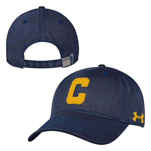 Under Armour Low Profile Retro Block C Baseball Cap- Navy-Shop College Wear