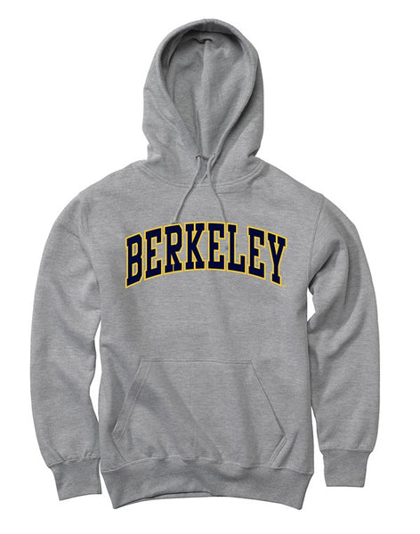 UC Berkeley Double Applique Hoodie Sweatshirt-Grey-Shop College Wear