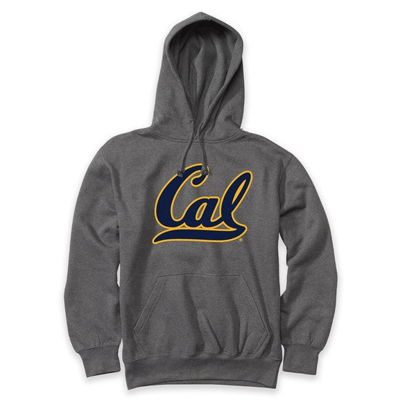 UC Berkeley Cal Double Applique Mens Hoody- Charcoal-Shop College Wear