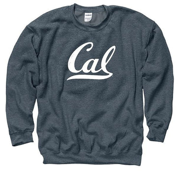 UC Berkeley Script Cal Mens Sweatshirt- Charcoal