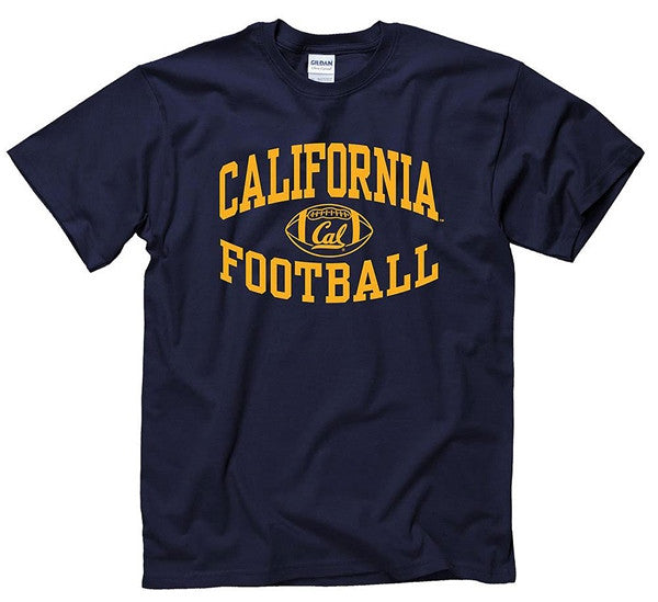 Reverse Football Berkeley California Mens T-Shirt- Navy-Shop College Wear
